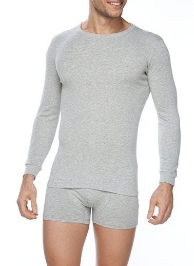 SVM Ribana  Likralı Uzun Kol T-Shirt Beyaz